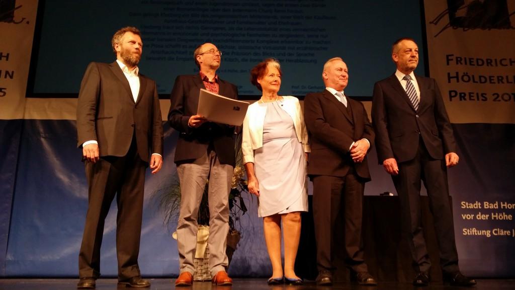 Dirk Knipphals, ich, Kulturdezernentin Beate Fleige, Oberbürgermeister Michael Korwisi und Stadtverordnetenvorsteher Holger Fritzel